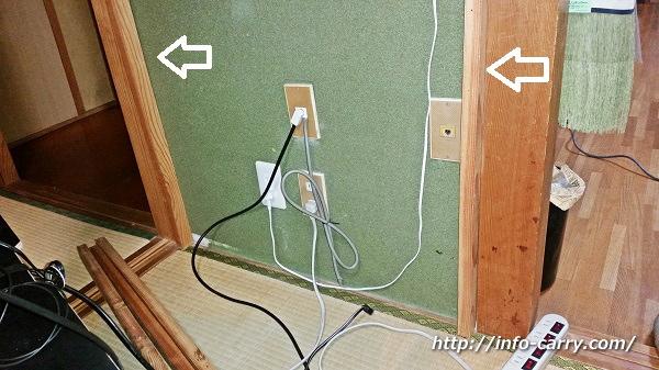 壁掛けテレビの枠作り