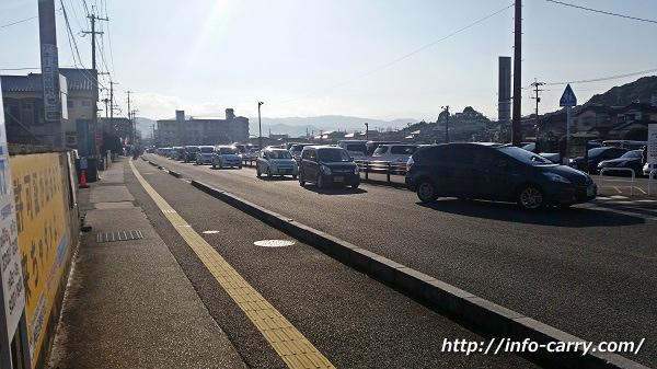 大宰府天満宮の駐車場の状況