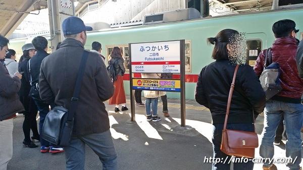 西鉄二日市駅の混雑状況