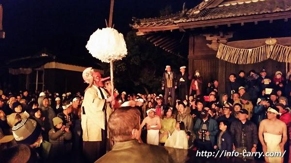 鬼夜の鉾面行事